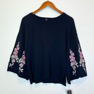 INC International Concepts NEW Knit Floral Sweater